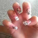 leopard nails!!<3