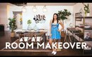 ROOM MAKEOVER FOR SMALL SPACES - FULL ROOM TRANSFORMATION!