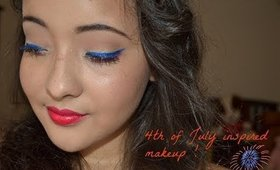 4th of July Inspired easy Makeup Look!