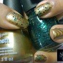 China Glaze: Gold Fusion + Graffiti Glitter