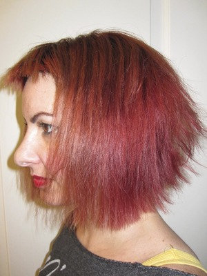 My Fall 2013 hair. Punky, spunky and full of manic panic.
