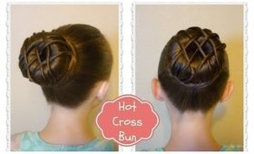 Hot Cross Bun Hairstyle - Dance Hair, Ballet Bun