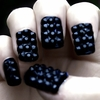Studded Blackberry Nails