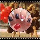 red balloon inspired nails