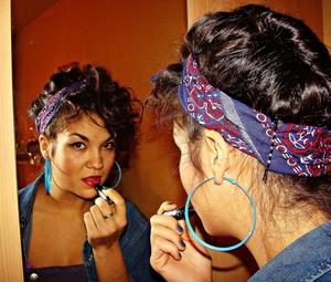 I did makeup and hair 4 my sis..kinda Rihanna We found love.