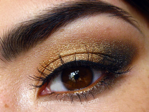 universally flattering golden smokey eye. Info on my blog: http://www.maryammaquillage.com/2012/03/boho-glam-siren.html