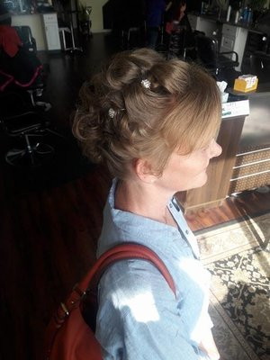VERY short hair Up do and Makeup by Christy Farabaugh