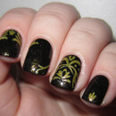 Baroque Print Nails