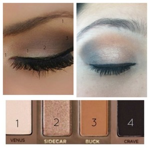 Naked pallet look with sephora eye shadows instead