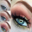 Summery Gold and Apricot Smokey Eye Makeup Tutorial