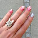 Sparkling summer manicure