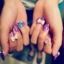Stilleto Glitter Nails