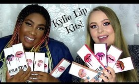 Kylie Cosmetics | 11 Lip Kits | Lip swatches + Review + Giveaway! Light and dark skintone