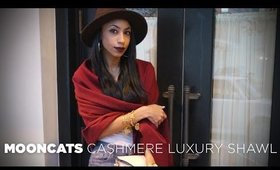 The Perfect Luxury Cashmere Shawl from MoonCats!