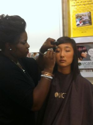Me doing makeup for the Go2Style Fashion Show featuring Santino Rice from Project Runway!  faceboo.com/makeupbyshanilton