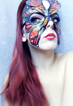 Handmade Mask - ''Monarch'' // ''There is nothing in a caterpillar that tells you it's going to be a butterfly.'' - Richard Buckminster Fuller