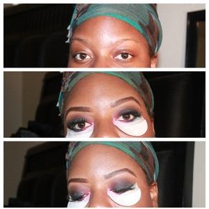 brows, eyeshadow