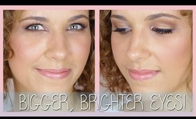 Eye Brightening Makeup for Hooded Eyes!