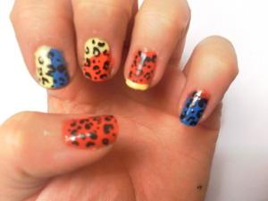 color block cheetah print