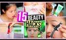 15 Beauty Hacks Every Girl Should Know! #backtoschool