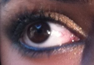 Eyes or blue and black