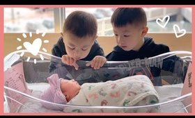 Meeting Their Sister For The First Time!   HAUSOFCOLOR