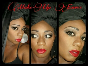 Smokey Eye & Red Lips