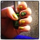 St. Patricks Day Nails with Shamrock