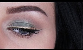 Mint Green & Gold | NYE Look #1