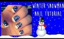 Winter Snowman Nail Art Tutorial