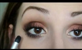 Fall Inspired Eyes w/ Nude Lips