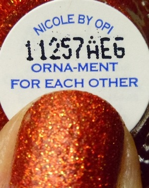 Nicole by OPI Orna-Ment for Each Other