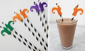 Witches Halloween Straws Decorations