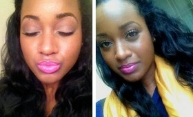 "Makeup Tutorial - ""Pop of Pink"" Lip   Barbie Pink"