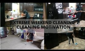 EXTREME WEEKEND DEEP CLEANING::CLEANING MOTIVATION::SPEED CLEANING 2020