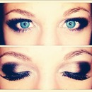 silver and black smokey eye.