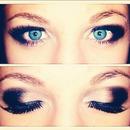 silver and black smokey eye.