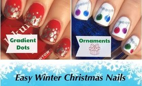 Easy Winter Christmas Nails by The Crafty Ninja