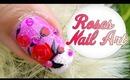 3D Flower Pearl & Roses Nail Art