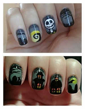 The nightmare before Christmas nail design