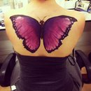 Body paint butterfly