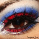 Red Glitter and Blue