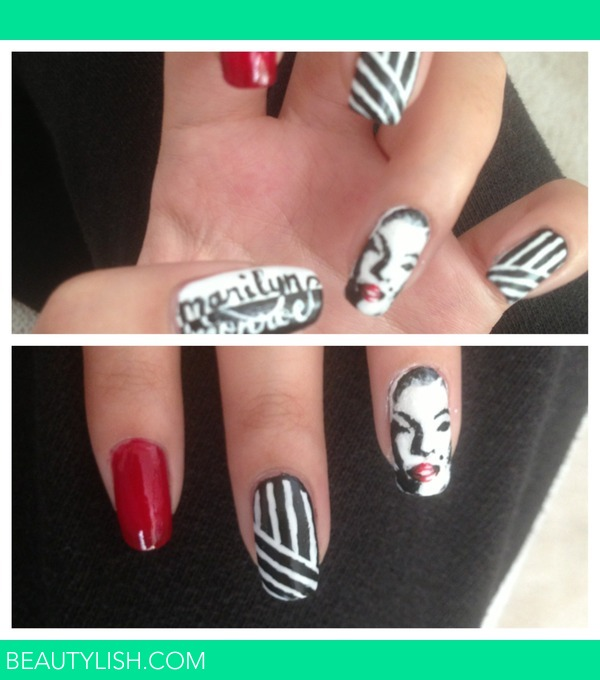 Marilyn Monroe nails. | Nuvia Z.\'s Photo | Beautylish