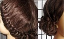 Elegant Knot Braid Side Bun Upstyle | Homecoming