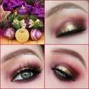 Christmas Look With Gold&Purple