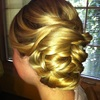 Woven, side-knot..by Calista Brides Hair & Makeup Artistry