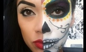 Sugar Skull Halloween Makeup Tutorial (Day of the Dead)