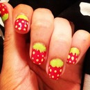 Strawberry Manicure.