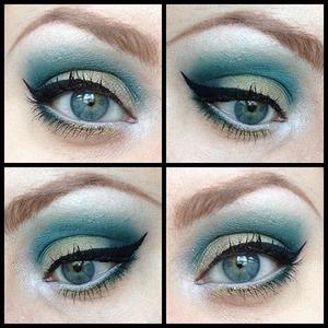 I used Sleek's I-Divine 'Sparkle 2' Palette to create this look :)