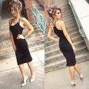 Black Halter & midi Skirt